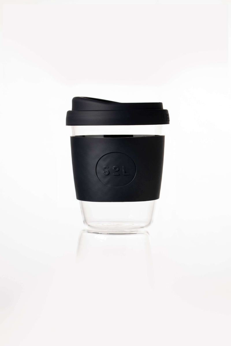 SoL Cups Glass Cup Basalt Black Reusable Glass Cups - SoL Cup 12oz