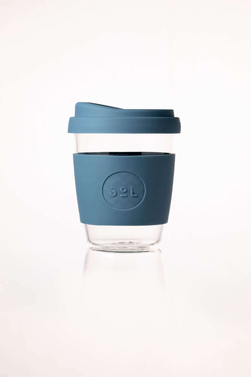 SoL Cups Glass Cup Blue Stone Reusable Glass Cups - SoL Cup 12oz