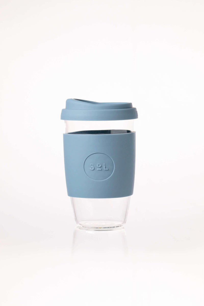 SoL Cups Glass Cup Blue Stone Reusable Glass Cups - SoL Cup 16oz
