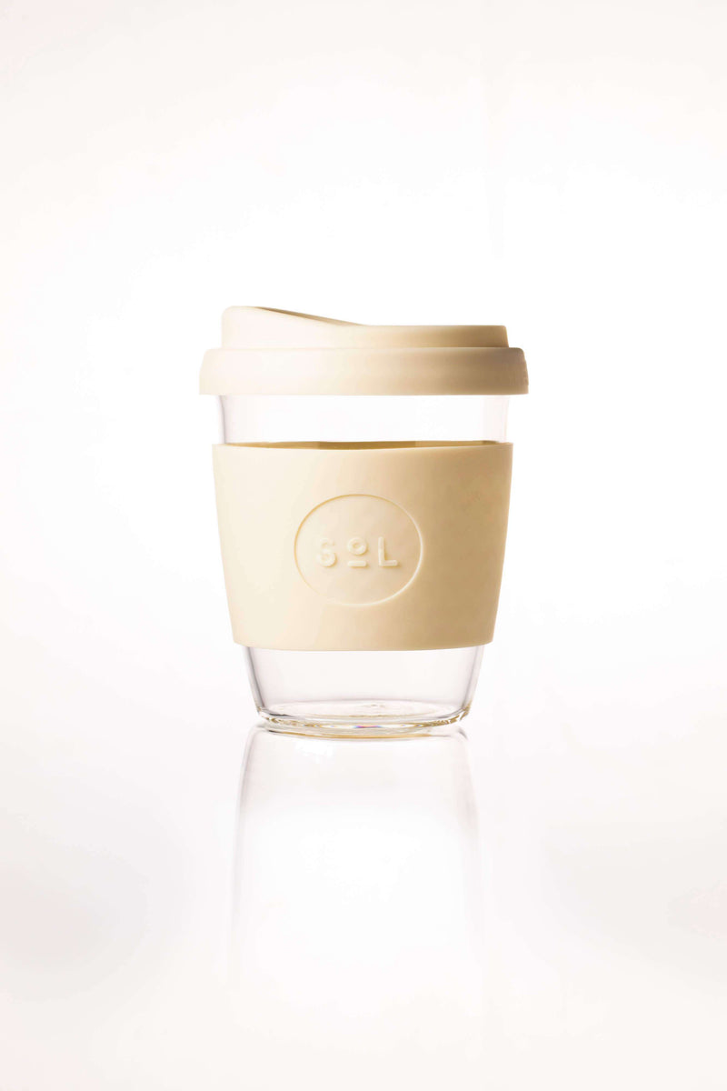 SoL Cups Glass Cup Coastal Cream Reusable Glass Cups - SoL Cup 12oz