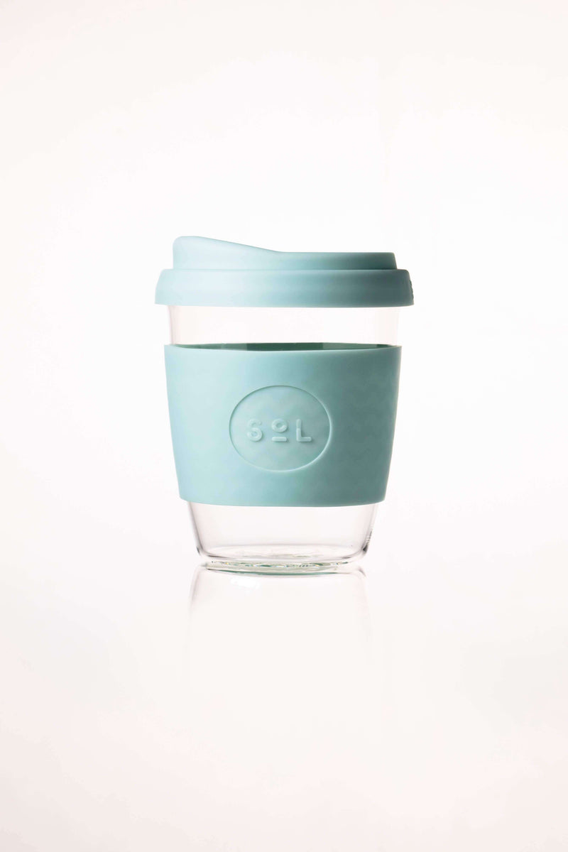 SoL Cups Glass Cup Cool Cyan Reusable Glass Cups - SoL Cup 12oz