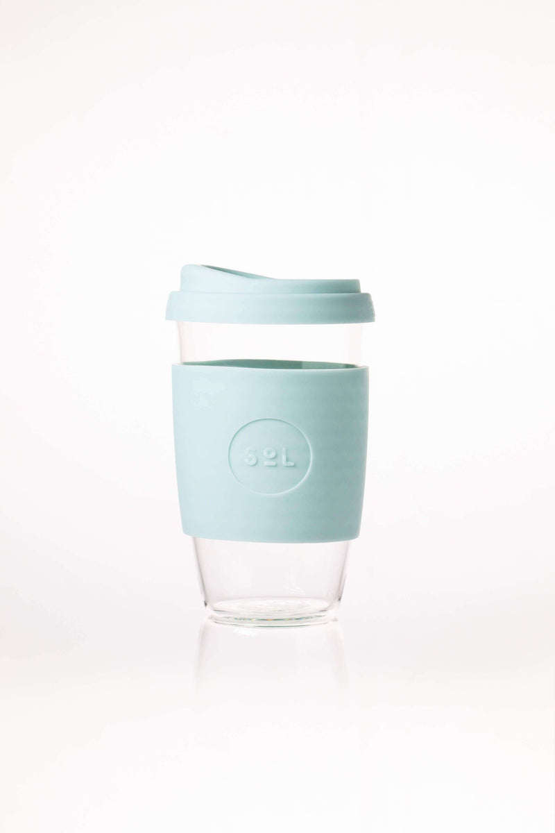 SoL Cups Glass Cup Cool Cyan Reusable Glass Cups - SoL Cup 16oz