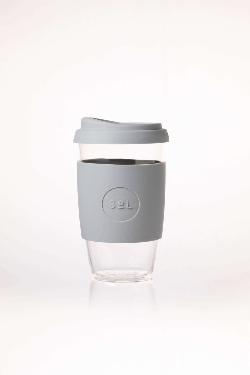 SoL Cups Glass Cup Cool Grey Reusable Glass Cups - SoL Cup 16oz