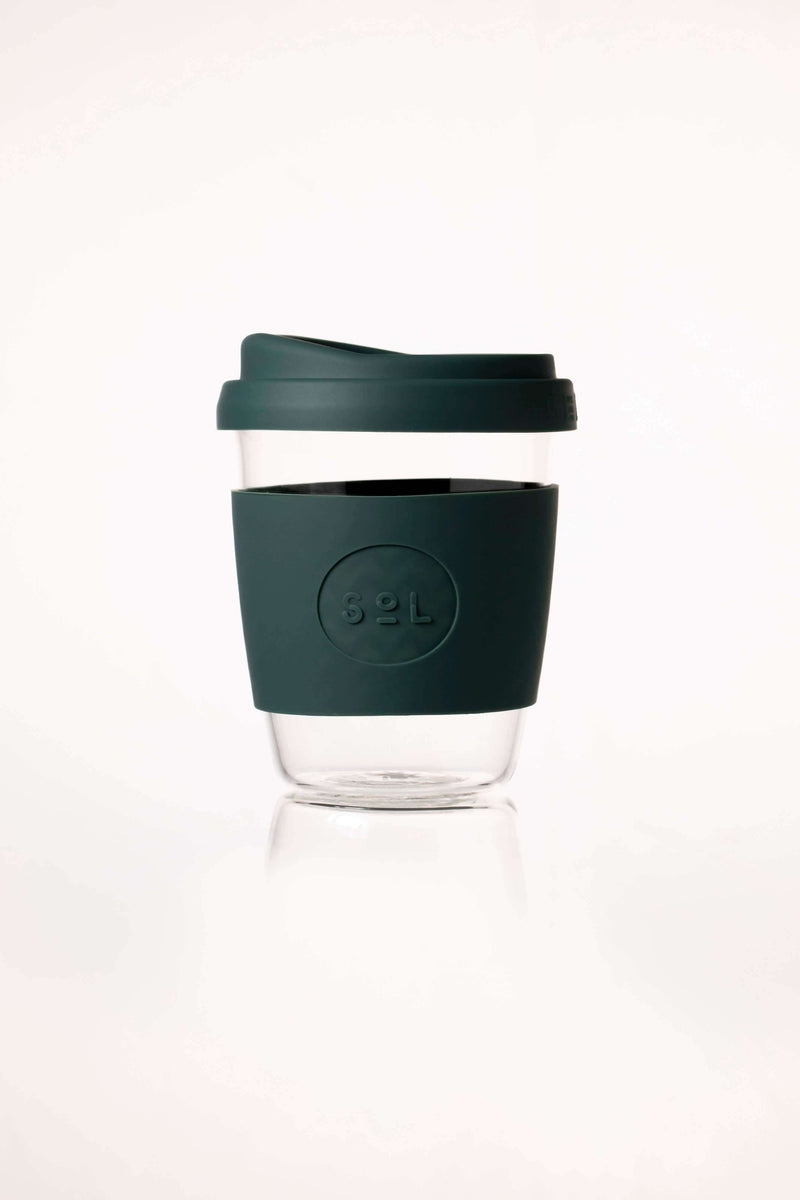 SoL Cups Glass Cup Deep Sea Green Reusable Glass Cups - SoL Cup 12oz