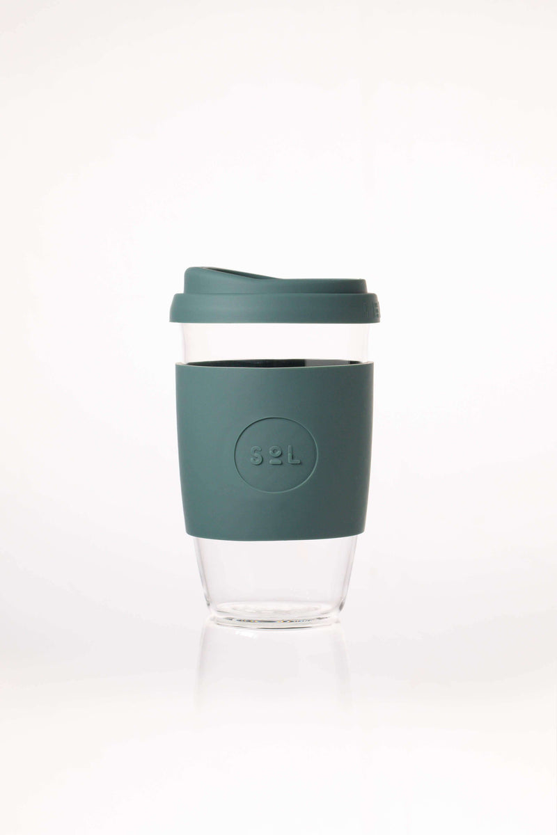 SoL Cups Glass Cup Deep Sea Green Reusable Glass Cups - SoL Cup 16oz