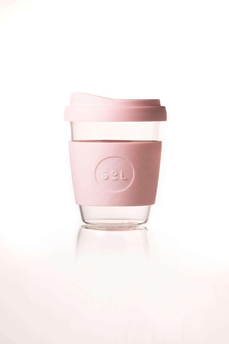 SoL Cups Glass Cup Perfect Pink Reusable Glass Cups - SoL Cup 12oz