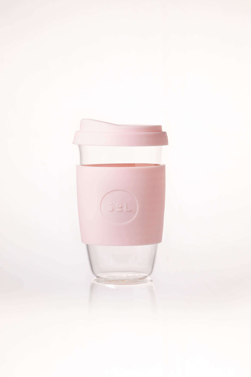 SoL Cups Glass Cup Perfect Pink Reusable Glass Cups - SoL Cup 16oz