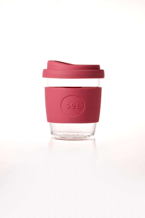 SoL Cups Glass Cup Radiant Rose Reusable Glass Cups - SoL Cup 8oz