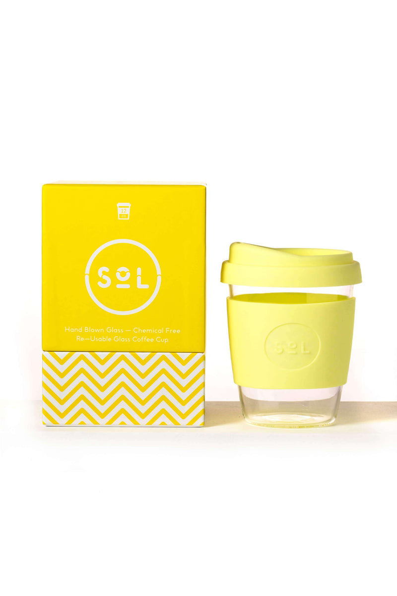SoL Cups Glass Cup Reusable Glass Cups - SoL Cup 12oz