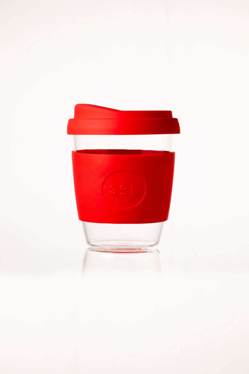 SoL Cups Glass Cup Rocket Red Reusable Glass Cups - SoL Cup 12oz