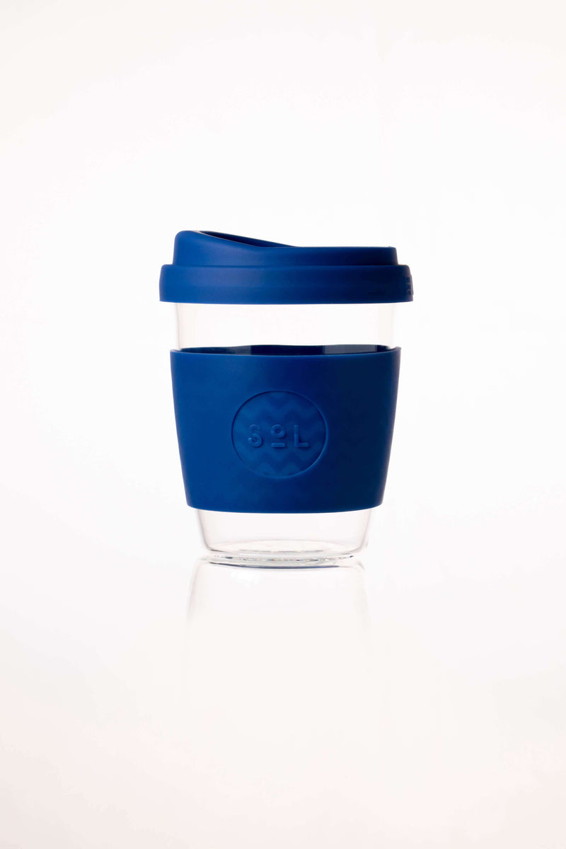 SoL Cups Glass Cup Winter Bondi Blue Reusable Glass Cups - SoL Cup 12oz