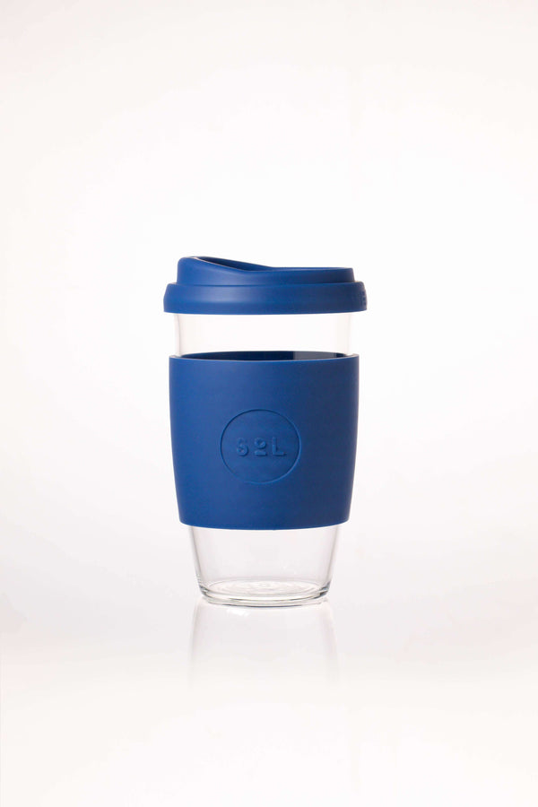 SoL Cups Glass Cup Winter Bondi Blue Reusable Glass Cups - SoL Cup 16oz
