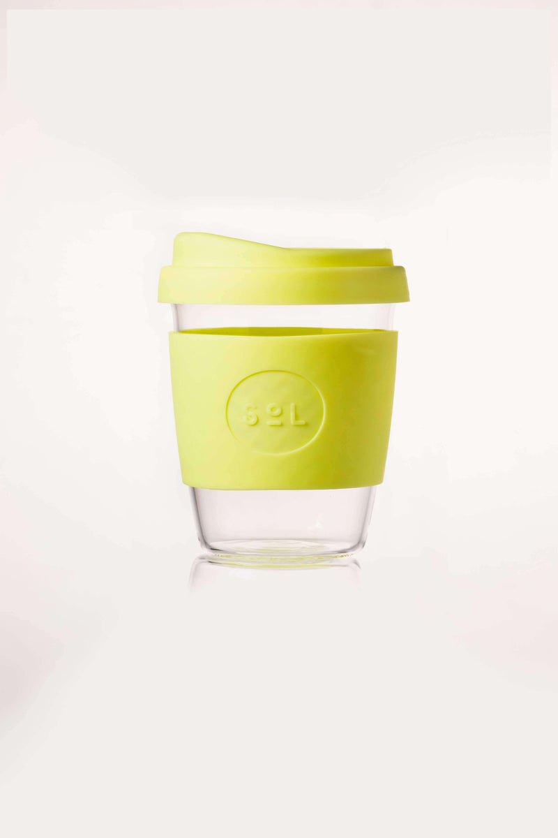 SoL Cups Glass Cup Yummy Yellow Reusable Glass Cups - SoL Cup 12oz