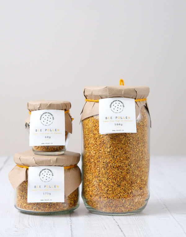 Raw Bee Pollen - high protein, nutrient-rich for natural allergy relief by Edinburgh Honey Co.