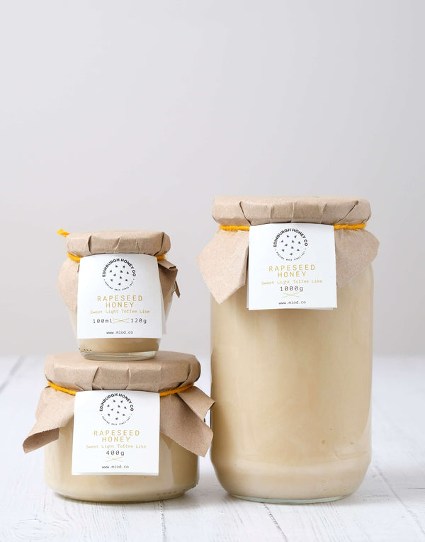 Raw Scottish Rapeseed Honey by Edinburgh Honey Co.