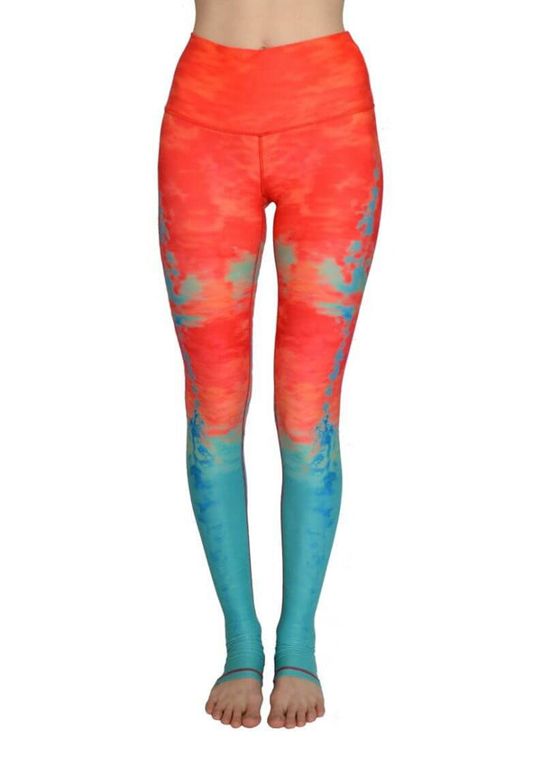 Sun Over the Ocean High Waisted Eco Leggings by Yogacycled at Life By Equipe