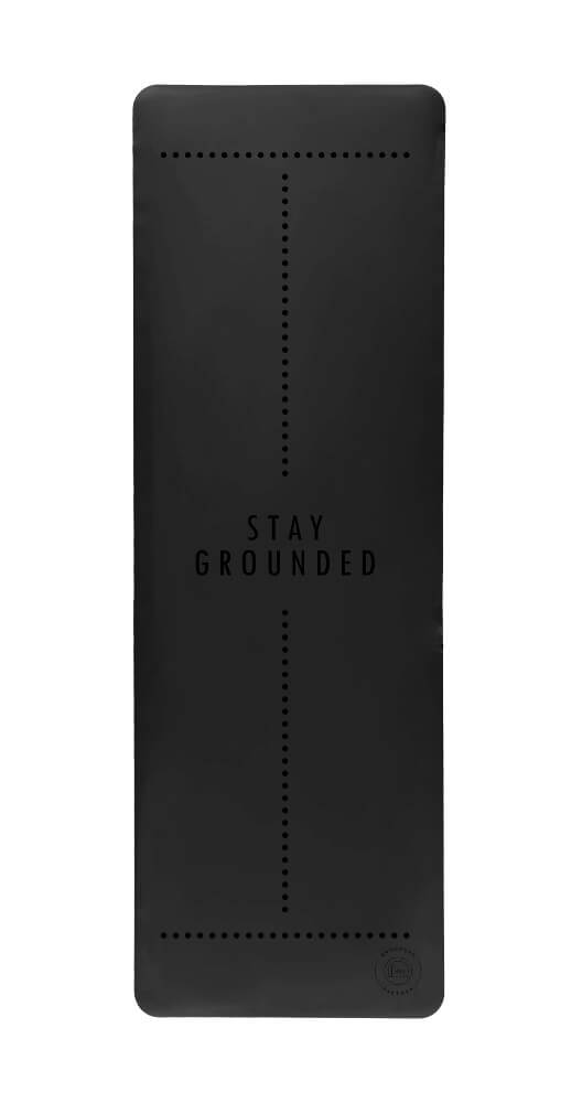 Stay Grounded Super Grip Black Yoga Mat - Grounded Factory