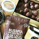 Blissful Brown Rice and Raw Cacao Super Protein Powder , 100% Vegan Protein Powder  - Life By Equipe