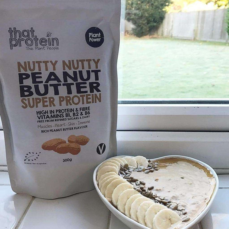 Nutty Nutty Peanut Butter Super Protein Powder , 100% Vegan Protein Powder  - Life By Equipe