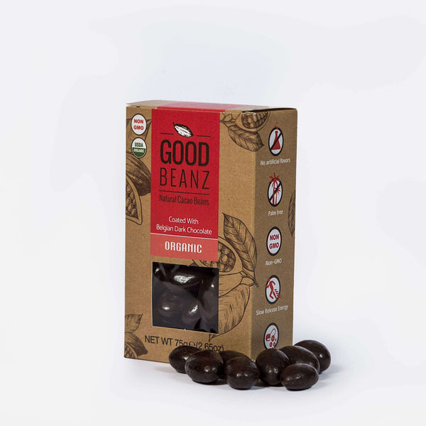 Dark Chocolate GoodBeanz , Chocolate Coated Cacao Beans  - Life By Equipe