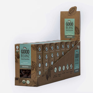 The Good Chocolate Company Chocolate Coated Cacao Beans Milk Chocolate GoodBeanz 8x 75g Multipack - The Good Chocolate Company