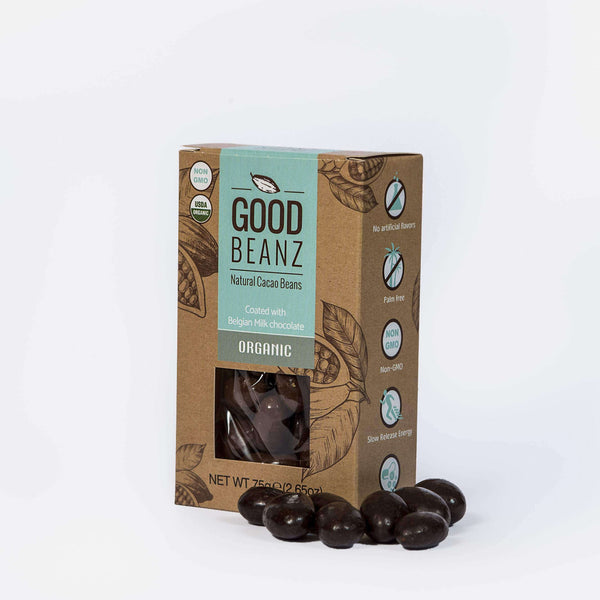 Milk Chocolate GoodBeanz , Chocolate Coated Cacao Beans  - Life By Equipe