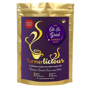 Chilli Choc Turmeric Latte - Instant Drink 200g - Dairy Free , Turmeric Latte  - Life By Equipe