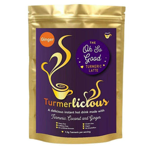 Ginger Turmeric Latte - Instant Drink 200g - Dairy Free , Turmeric Latte  - Life By Equipe