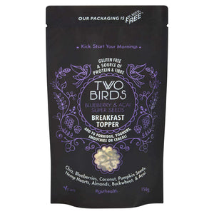 Two Birds Cereals Breakfast Boosts Blueberry & Acai Super Seeds Breakfast Topper