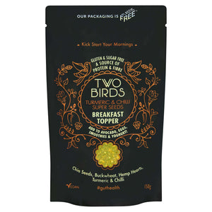 Two Birds Cereals Breakfast Toppers Turmeric Chilli Super Seeds Breakfast Topper
