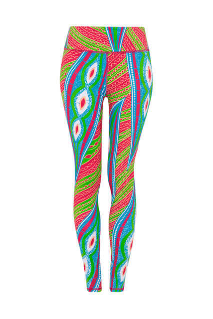 Ultra High Waisted Yoga Leggings - Cowrie Shell