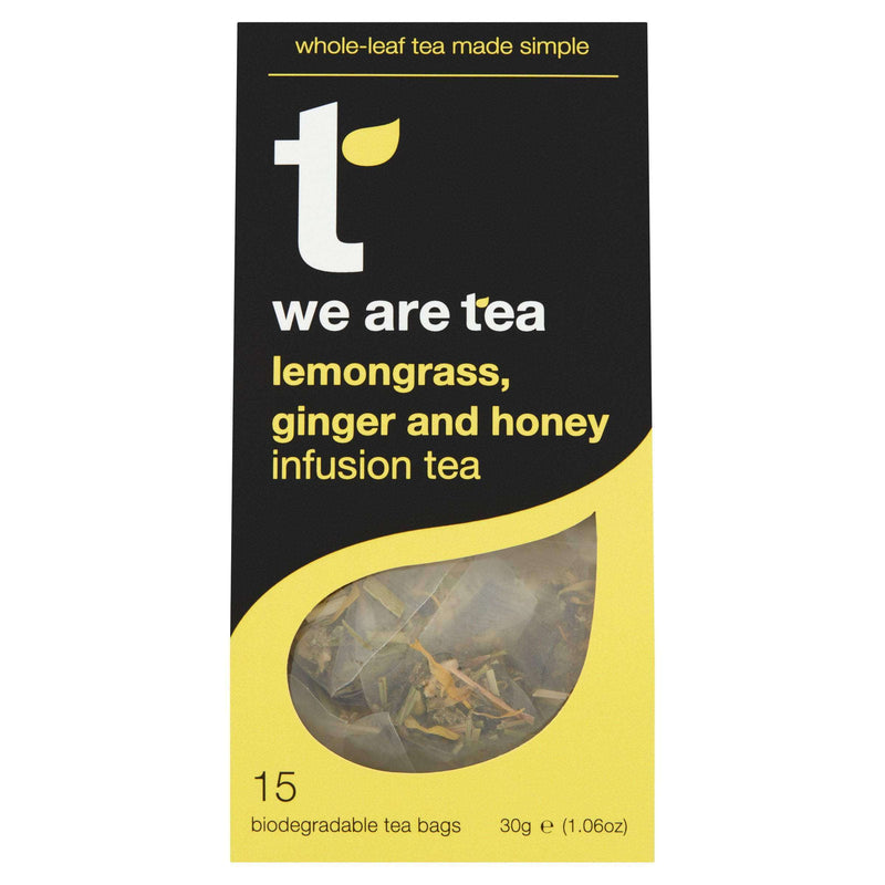 We Are Tea Tea Lemongrass Ginger and Honey Whole Leaf Tea Bags - We Are Tea