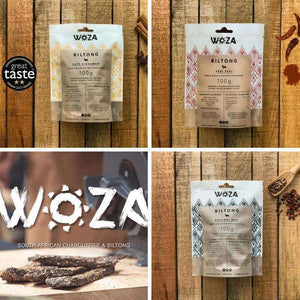Woza Biltong Limited Edition 3 Flavour Selection Pack Beef Biltong (3x100g)