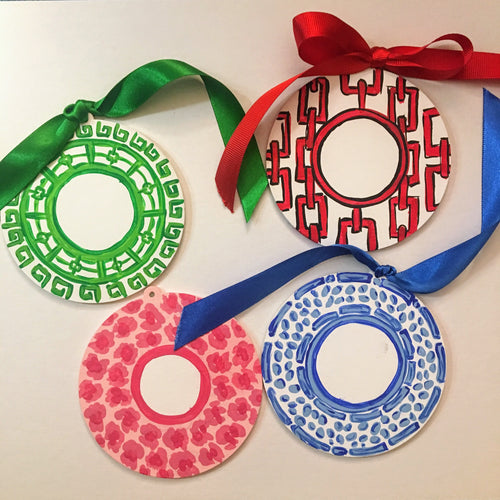 Monogrammed Wooden Ornaments