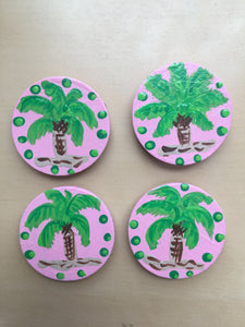 Palm Tree magnets - Set of 4