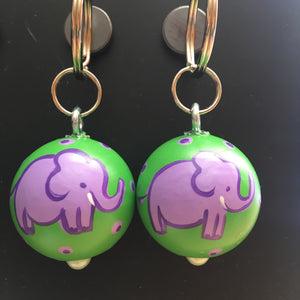Purple Ellie Key Fob