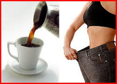 espresso cup of coffee next to weight loss