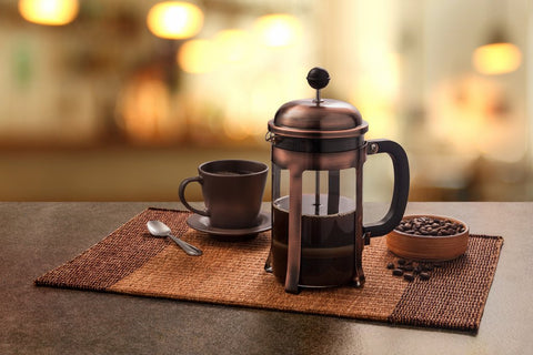 rustic French press espresso