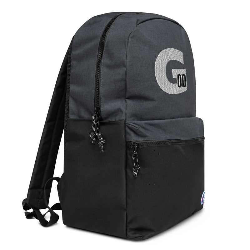 BOD BY GOD LOGO Embroidered Champion Backpack