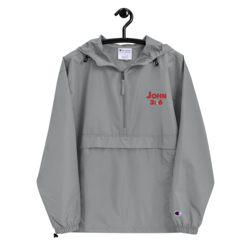 JOHN 3:16 Embroidered Champion Packable Jacket