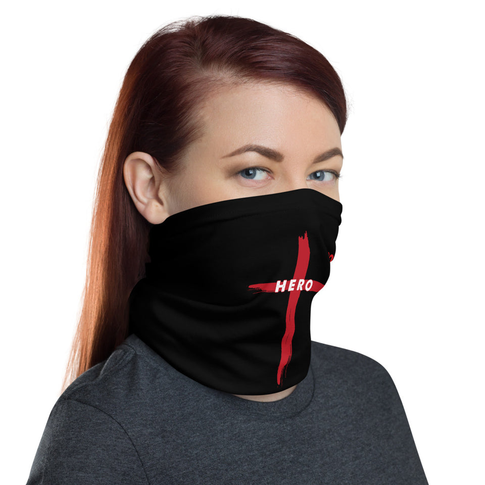 JESUS HERO BLACK AND RED NECK GAITER