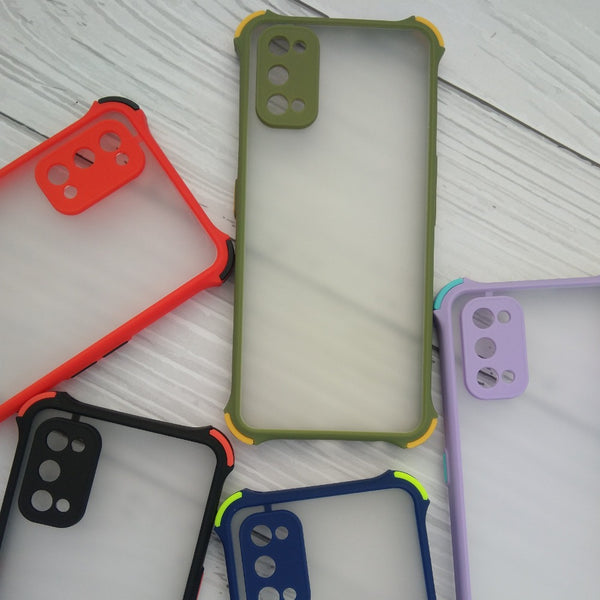 Shockproof smoke phone case for Realme 7 Pro corners color bumper cover