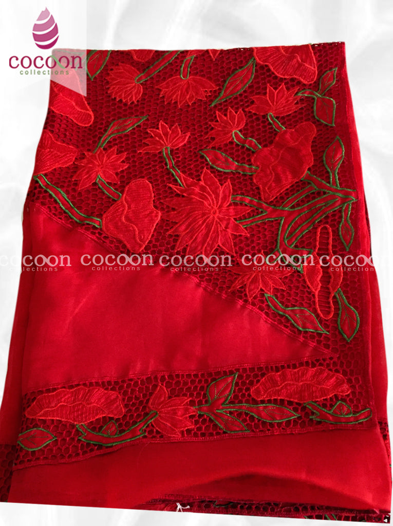 4716fa38302f5 Pure Organza Silk Saree with Cut-Work (Product Code  C39SA16) – Cocoon  Collections.