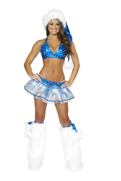 Silver Star Skirt And Top Set Light-Up Stars And Built-In Petticoat