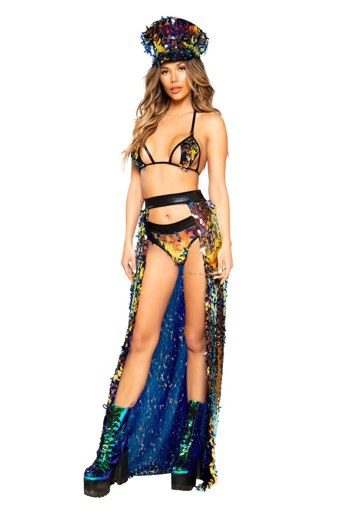 Open Banded Sequin Skirt - RaveSQUAD