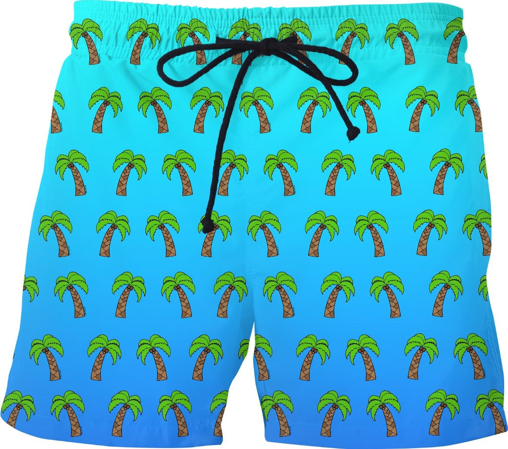 Palm Trees - Blue Ombre Swim Shorts