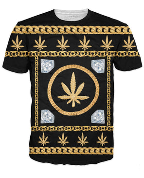 Gold Chains And Diamonds T-Shirt - RaveSQUAD
