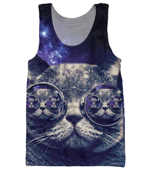 Hipster Cat Tank Top - RaveSQUAD