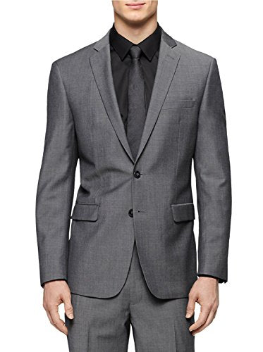 Calvin Klein Mens Wool Slim Fit Two-Button Suit Jacket