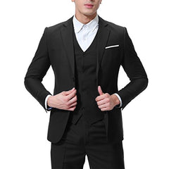 Men's 3-Piece Suit 2 Buttons Slim Cloud Style Fit Solid